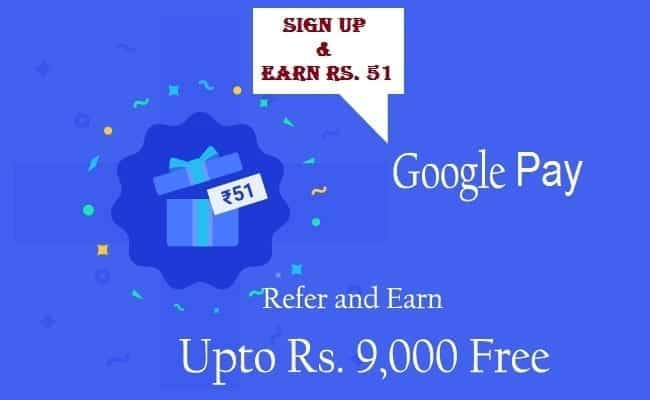 google pay refer earn