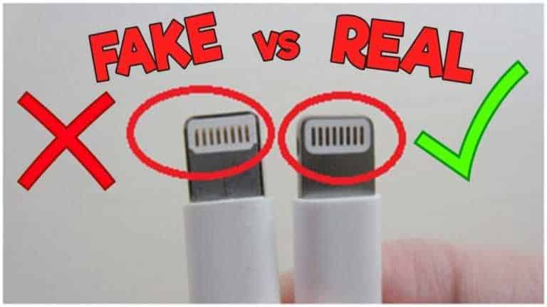 How to compare Apple Lightning connector Fake VS Original