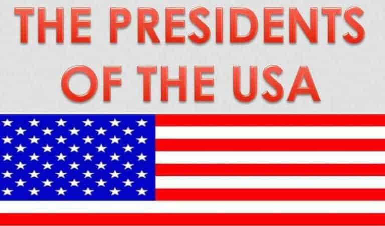 Chronological Order of Presidents of the United States (USA)
